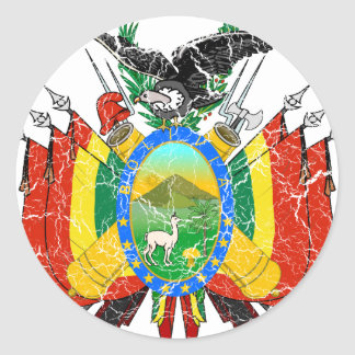 Bolivia Coat Of Arms Classic Round Sticker