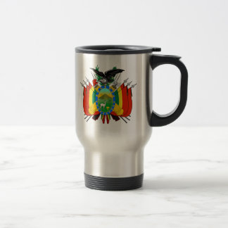 Bolivia Coat of Arms detail 15 Oz Stainless Steel Travel Mug