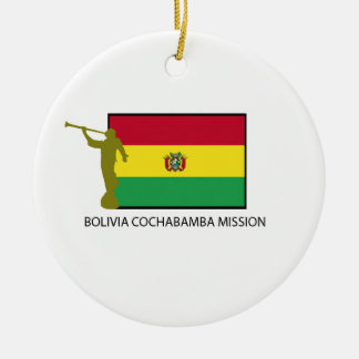 BOLIVIA COCHABAMBA MISSION LDS CTR Double-Sided CERAMIC ROUND CHRISTMAS ORNAMENT