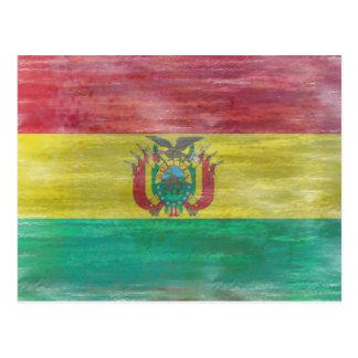 Bolivia distressed Bolivian flag Postcard
