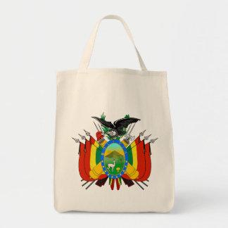 bolivia emblem canvas bag