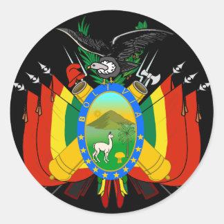 bolivia emblem classic round sticker
