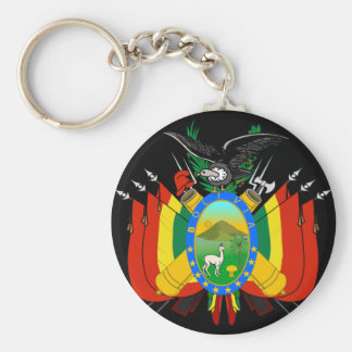 bolivia emblem keychain
