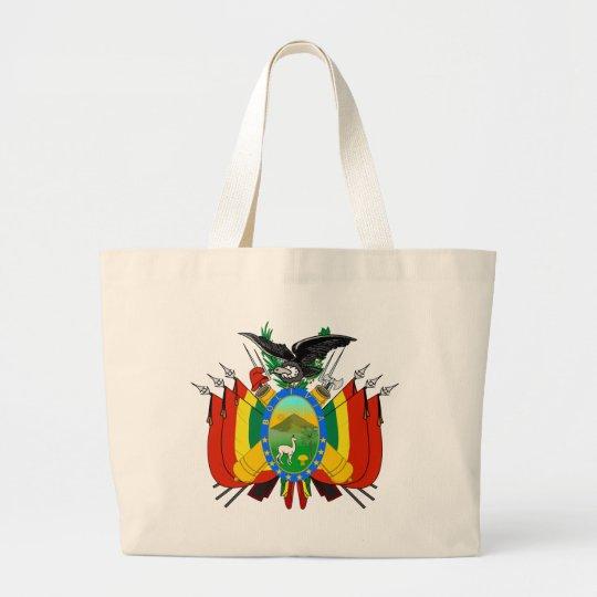 bolivia emblem large tote bag
