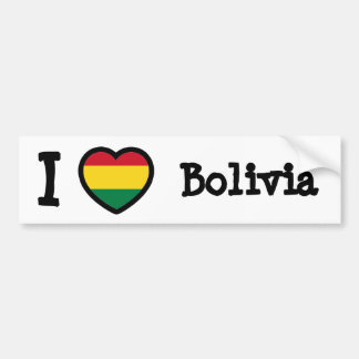 Bolivia Flag Bumper Sticker