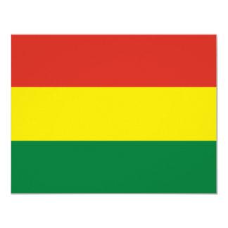 Bolivia Flag Card