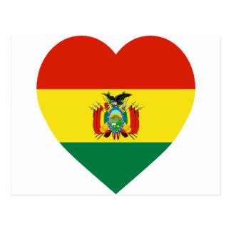 Bolivia Flag Heart Postcards