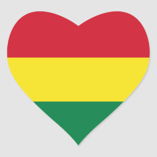 Bolivia Flag Heart Sticker