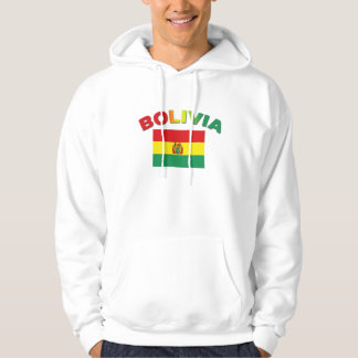 Bolivia Flag Hooded Pullover