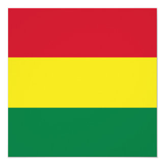 Bolivia Flag Invitation