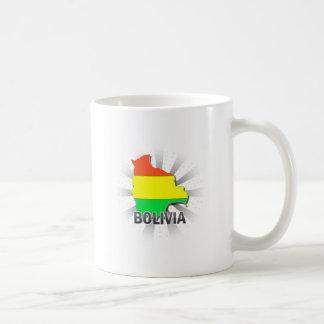 Bolivia Flag Map 2.0 Classic White Coffee Mug