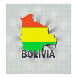 Bolivia Flag Map 2 0 Posters