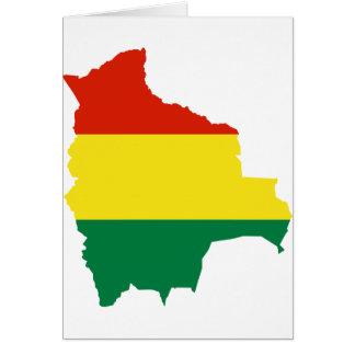 Bolivia Flag map BO Cards