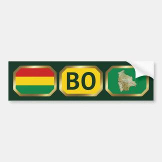 Bolivia Flag Map Code Bumper Sticker Car Bumper Sticker