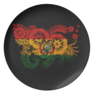 Bolivia Flag Party Plate