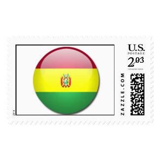 bolivia flag postage