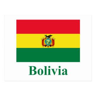 Bolivia Flag with Name Postcard