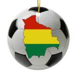 Bolivia football soccer Christmas ornament