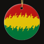 Bolivia Gnarly Flag Ceramic Ornament