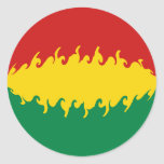 Bolivia Gnarly Flag Classic Round Sticker