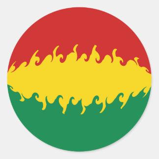 Bolivia Gnarly Flag Classic Round Sticker