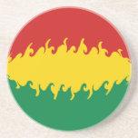 Bolivia Gnarly Flag Drink Coaster