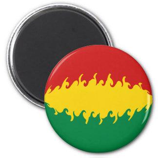 Bolivia Gnarly Flag Refrigerator Magnets