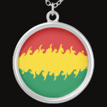 Bolivia Gnarly Flag Silver Plated Necklace