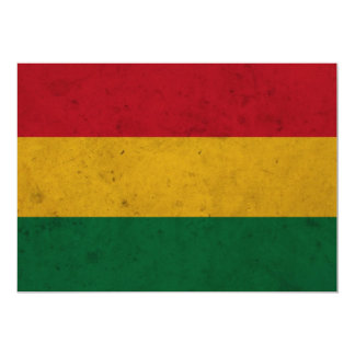 Bolivia Grunge Flag Card