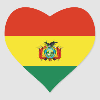 bolivia heart sticker