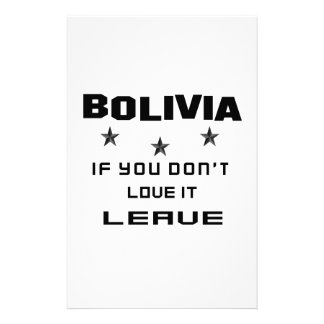 Bolivia If you don't love it, Leave Stationery