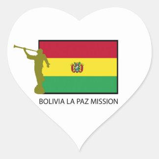 Bolivia La Paz Mission LDS CTR Heart Sticker