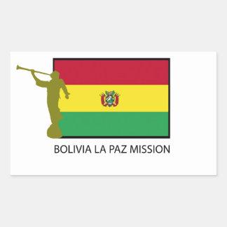 Bolivia La Paz Mission LDS CTR Rectangular Sticker
