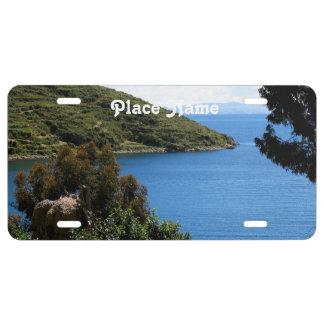 Bolivia Landscape License Plate