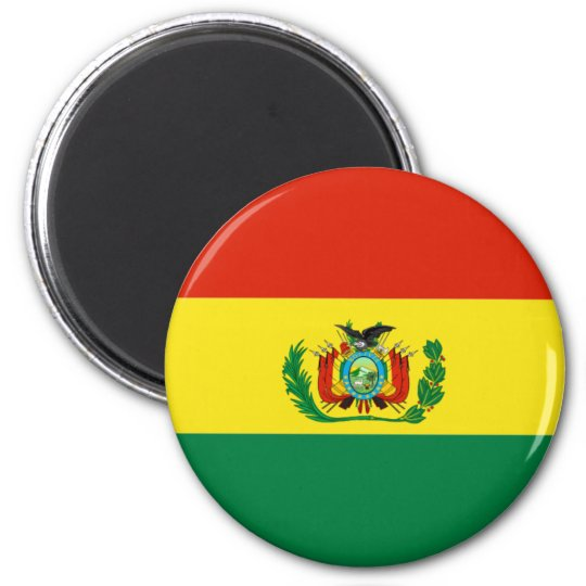 Bolivia_magnet 2 Inch Round Magnet