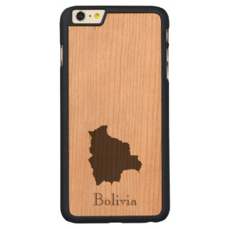 Bolivia Map Carved® Cherry iPhone 6 Plus Slim Case