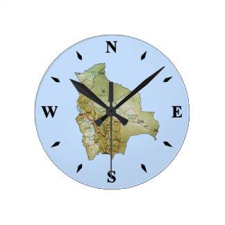 Bolivia Map Clock