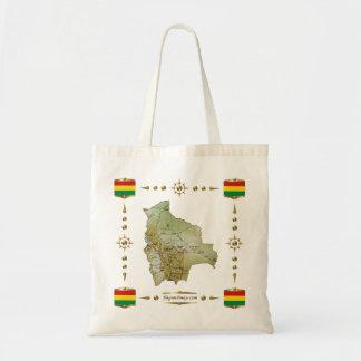 Bolivia Map + Flags Bag