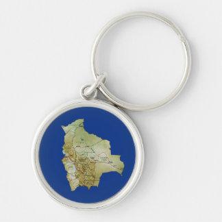 Bolivia Map Keychain