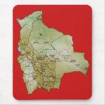 Bolivia Map Mousepad
