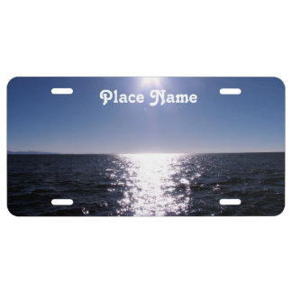 Bolivia Ocean License Plate