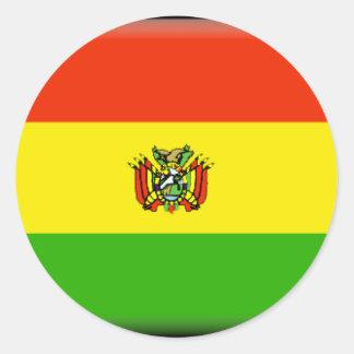 Bolivia Pegatina Redonda