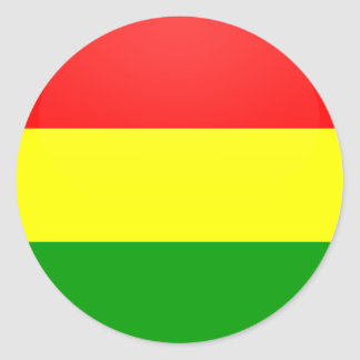 Bolivia quality Flag Circle Classic Round Sticker