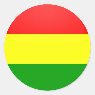 Bolivia quality Flag Circle Stickers