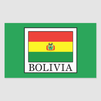 Bolivia Rectangular Sticker