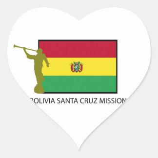 Bolivia Santa Cruz Mission LDS CTR Heart Sticker
