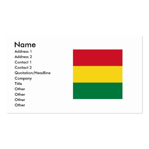 Bolivia Square Flag Double-Sided Standard Business Cards (Pack Of 100)