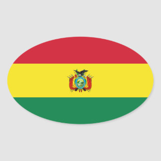 Bolivia State Flag Oval Sticker