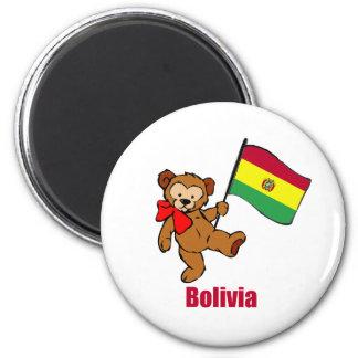 Bolivia Teddy Bear Refrigerator Magnet