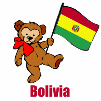Bolivia Teddy Bear Cut Out
